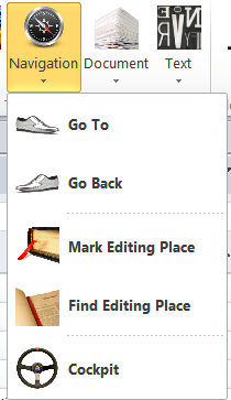 Navigation dropdown